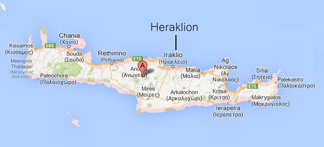 Mapa Krety