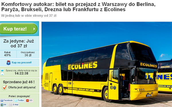 Ecolines groupon