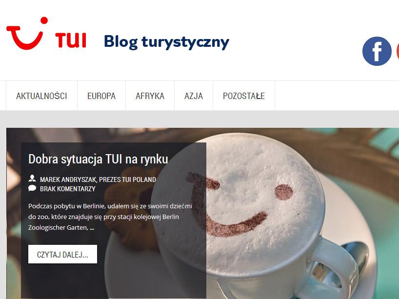 Blog turystyczny TUI