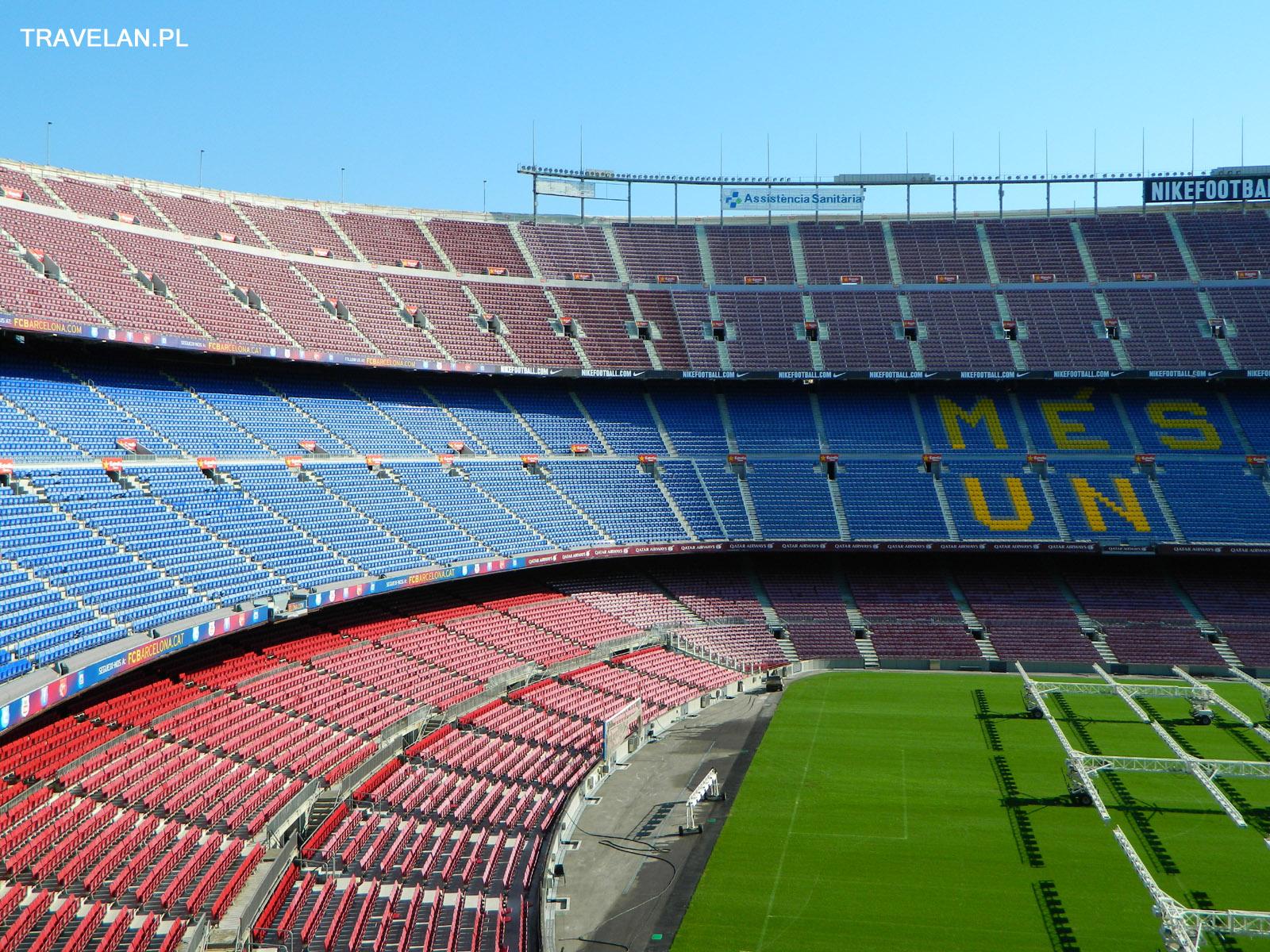 Camp Nou - Trybuny największego, czynnego stadionu na świecie