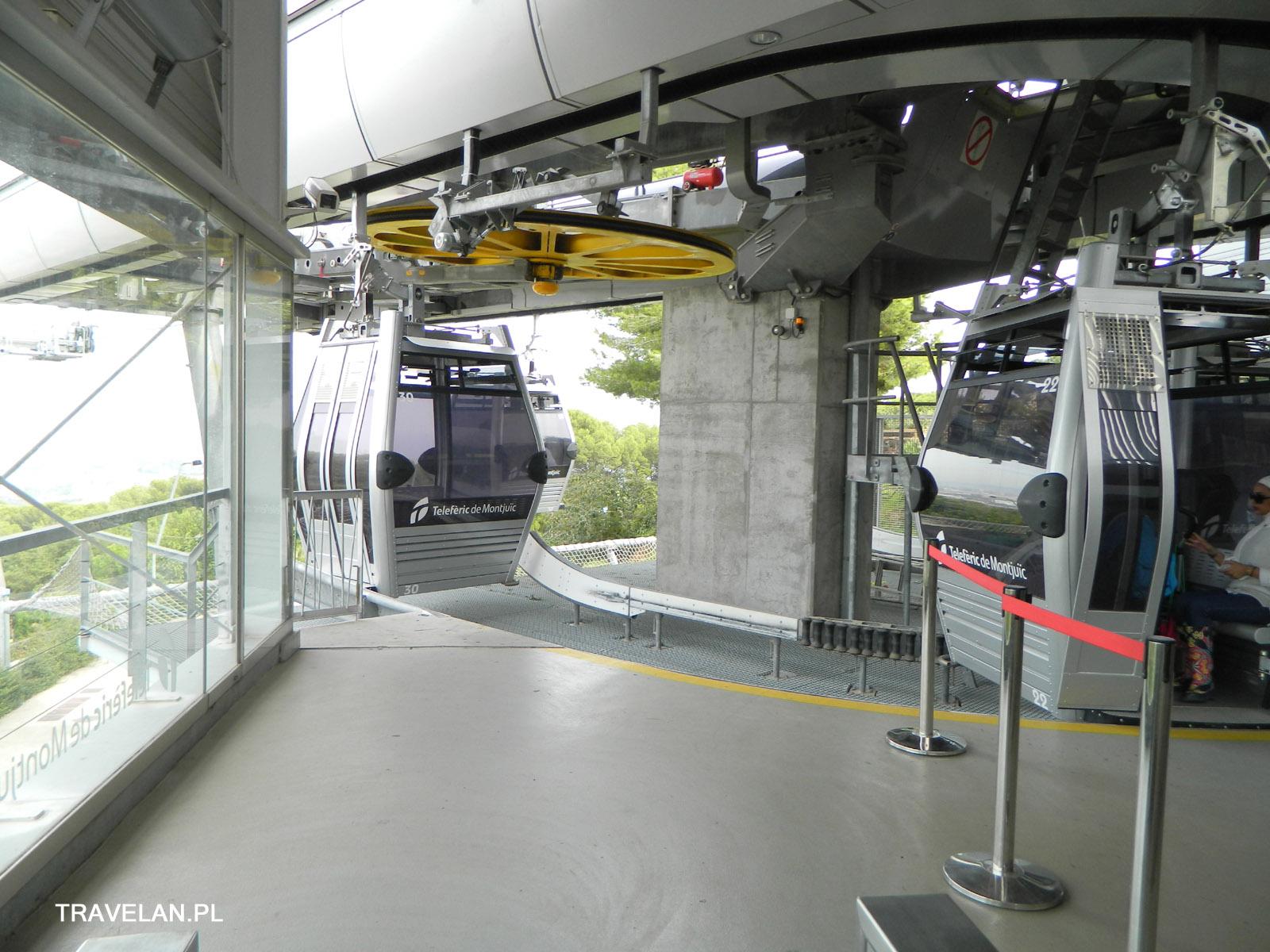 Kolejka Teleferic z i na wzgórze Montjuice