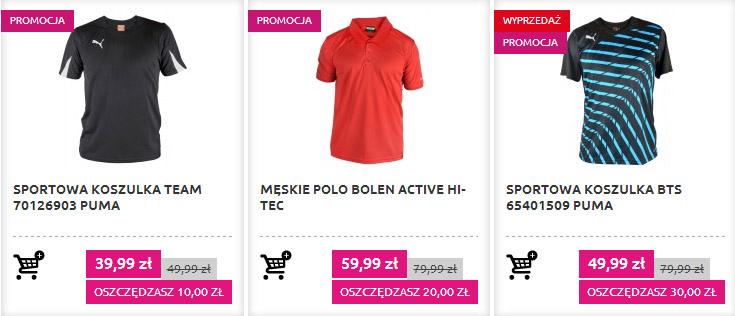 Przecenione, sportowe t-shirty na sklepmartes.pl