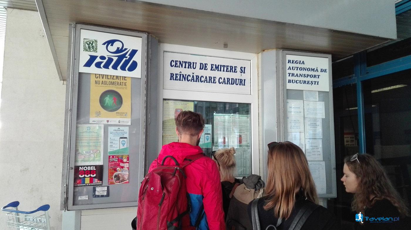 Ratb - punkt sprzedaży biletów na lotnisku